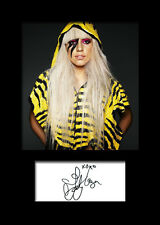 LADY GAGA #2 Signed Photo Print A5 Mounted Photo Print - FREE DELIVERY