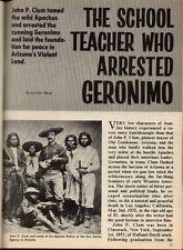 Apache Scout John P. Clum* - Man Who Arrested Geronimo* (Go-khla-ye). Reynolds
