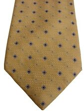CANALI Mens Tie Light Yellow - Blue Squares NEW