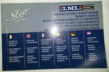 manual LML star cuatro tiempos 125 cc AUTOMÁTICO folleto uso mantenimiento