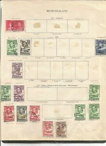 BECHUANALAND  USEFUL OLD TIME REMAINDER COLLECTION WITH  POSTMARK VARIETY