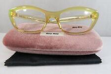 d3be1fa8c6f Miu Miu Women s Yellow Glasses with case VMU 02M PDA-1O1 52mm
