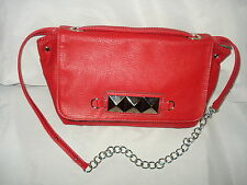 XOXO RED FAUX LEATHER SHOULDER BAG PURSE AUTH EUC SUPER SALE!