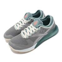 Reebok Nano 9 Grey Green White Women CrossFit Cross Training Shoe Sneaker FU6831