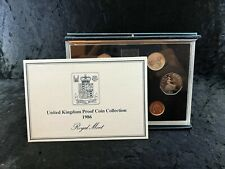 More details for great britain, 1986 proof coin year set in royal mint case, ot116