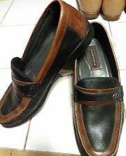 Florsheim Men Size 8 Black Leather - Brown Accent  Penny Loafer wide-Brazil