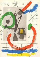 JOAN MIRÓ ORIGINAL Lithogr. Sternzeichen Fische Werkv. 372 Maeght Rücks. Wv. 371