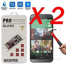 2 X 9H Protector Pantalla Cristal Templado Para HTC ONE M7 M8 M9 M10 Desire 626