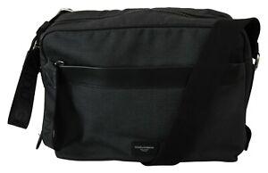 DOLCE & GABBANA Bag Cotton Black Gray Shoulder Strap Laptop Messenger RRP $800