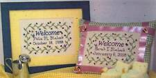 Stitching Parlor WELCOME LITTLE ONE 2 Cross Stitch Charts ~ boy / girl sampler