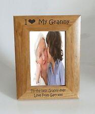 Granny Photo Frame- I heart-Love My Granny 5 x 7 Photo Frame - Free Engraving