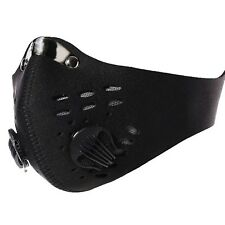 Half Face Mask Anti Dust Filter Bicycle Motor Riding Running Ski Cycling Black