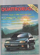 Quattroruote dicembre 1988 - reanult 5