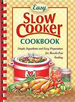 Easy Slow Cooker Recipes, , Very Good Book