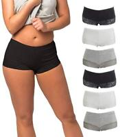 Lot of 3-10 Pack of Women's Underwear Seamless Boy Shorts Cotton Assorted Colors