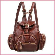 New Design Pebbled Real Leather Mini Stylish Lady Drawings Pouch Backpack Bag