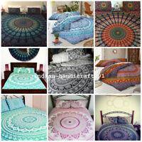 Hippie Mandala Bedding Bed Cover Bohemian Queen Double Bedspread Coverlet Throw