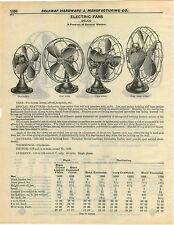 1932 PAPER AD Delco Blue Grass Electric Fan Fans Desk Oscillating