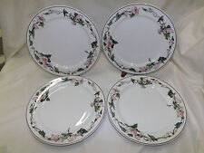 Villeroy & Boch PALERMO Pink Morning Glory Dinner Plates - sold in sets of 4