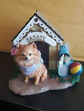 Danbury Mint Home Sweet Home Dog House Sassie Figurine Resin Statue