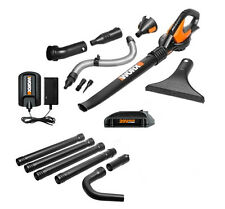 WG545.1 WORX 20V Max Lithium Blower/Sweeper + FREE Gutter Kit Included!