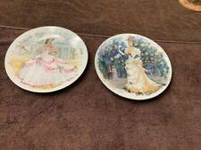 Vtg decor plates for hanging D'Arceau Limoges Women of Temptations