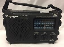Kaito Voyager KA500 Solar Crank Radio with Weather Band and LED Flashlight Black