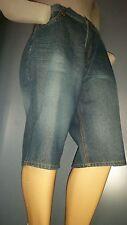 Men COOGI Shorts Size 40 Denim Short Knee Length Camoflauge Back Pocket Design