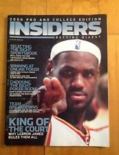 Insiders Betting Digest Magazine 2006 Pro and College Edition Lebron James King