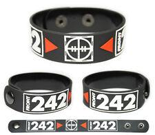 Front 242 wristband rubber bracelet