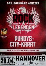 Rock Légendes - 2016-concert affiche-Puhdys-City-Carat - Tourposter