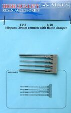 Aires 1/48  Hispano 20mm Cannons with Flame Dampers # 4335