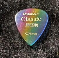 Pickboy Grip Guitar Pick Rainbow Clear Translucent .75 mm Medium NEW Single-1