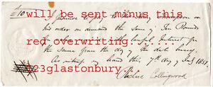 M65 Orig. 1857 Promissory note Collingwood, Lincs.