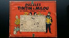 Tintin puzzle Dubreucq Etoile mystérieuse 60 pièces années 40 manque 1 pièce