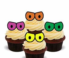 Monster Eyes - Edible Cup Cake Toppers, Standup Fairy Bun Decorations Halloween