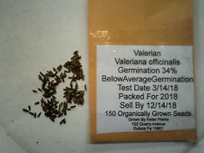 150 Organically Grown Valerian Seeds Valeriana Officinalis