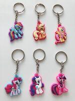 6x Girls Kids Children My Little Pony Key Ring holder Keyring Key Chain gift