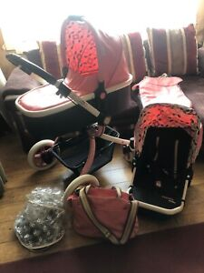 COSATTO OOBA PINK KIMONO TRAVEL SYSTEM CARRYCOT SEATING UNIT PRAM PUSHCHAIR