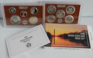 2020 S US Mint ANNUAL 10 Coin Proof Set with Box and COA there is NO W Nickel