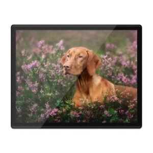 Placemat Mousemat 8x10 - Beautiful Vizsla Dog Flower Portrait  #16295