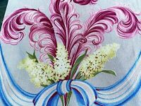 SALE! Hollywood Regency Fronds Barkcloth Vintage Fabric Miami Beach 30's PILLOWS