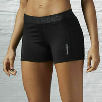 Reebok Women's Workout Ready Cut Fitting Knit Elastane Gym Fitness Shorts AJ3319