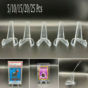 5-25Pcs Card Stand Graded Cards Display Stand Coins Small Box Paper Clip Holder