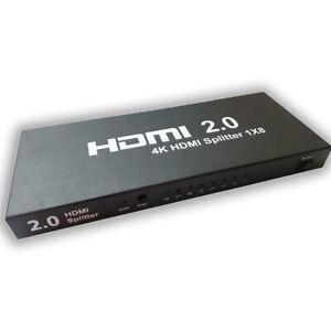4K 60HZ 8 Way HDMI Splitter 2.0 HDCP 2.2 3D 3840X2160/60HZ Ultra HD 1 in 8 Out