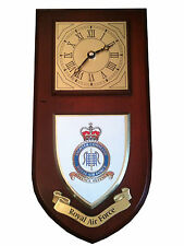 RAF Fighter Command Royal Air Force Regimental Military Wall Plaque & Clock