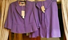 Laura Ashley Ladies Suit Jacket and Skirt Colour Foxglove Size 18 New with Tags