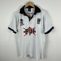 Fiji Rugby League Jersey Mens Medium 2008 White Short Sleeve