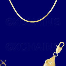 "14K ITALY GOLD PLATED 3mm HERRINGBONE CHAIN 16"" GUARANTEED SAME DAY SHIP H3D"
