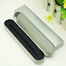 Silver Tin Pencil Case Pen Storage Box Stationery Tinplate Organizer Box Gifts